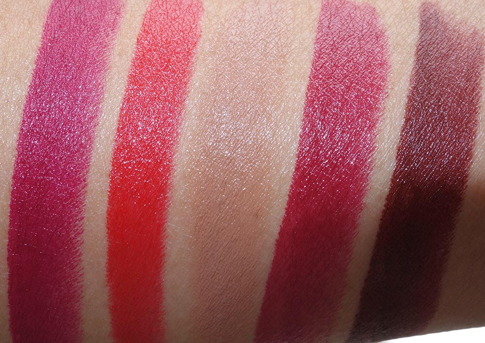 mac macnificent me swatches lipsticks