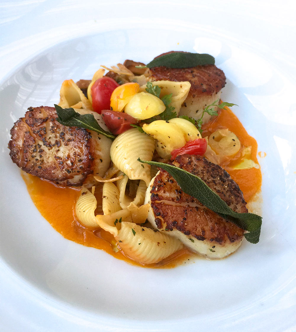 scallops and pasta