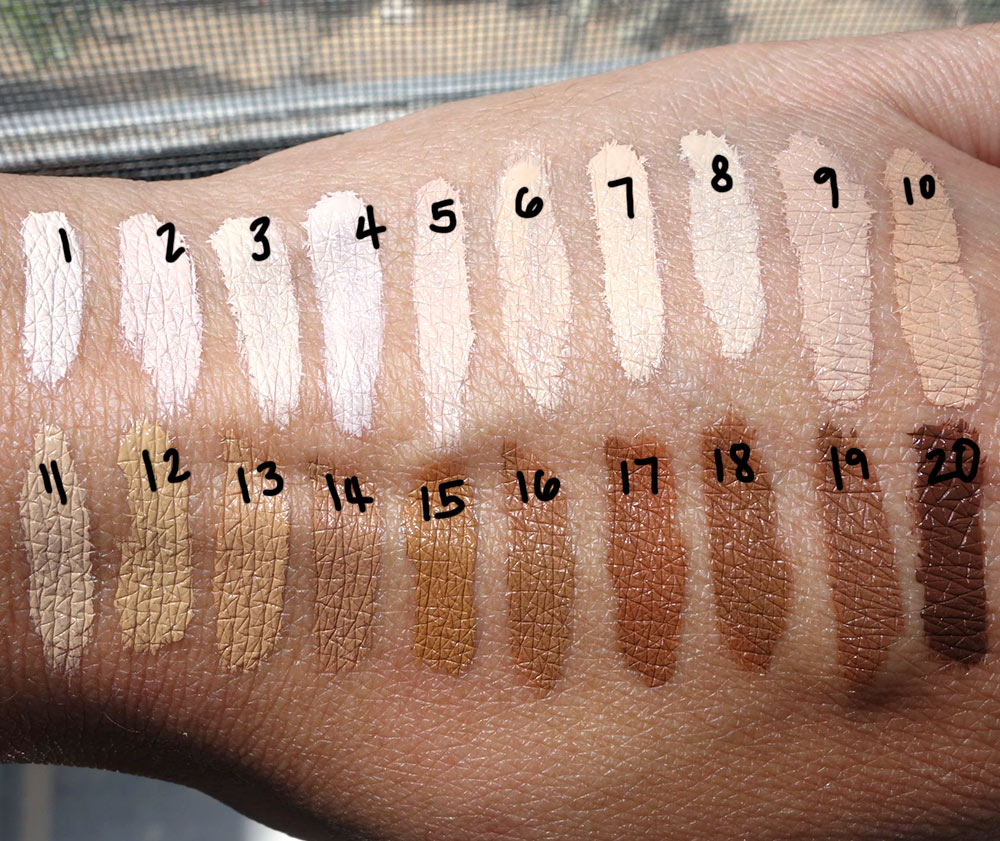sephora bright future gel serum concealer swatches
