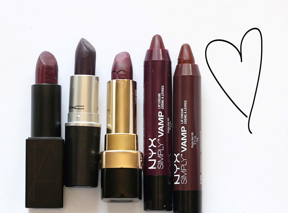 5 gothy glam lipsticks