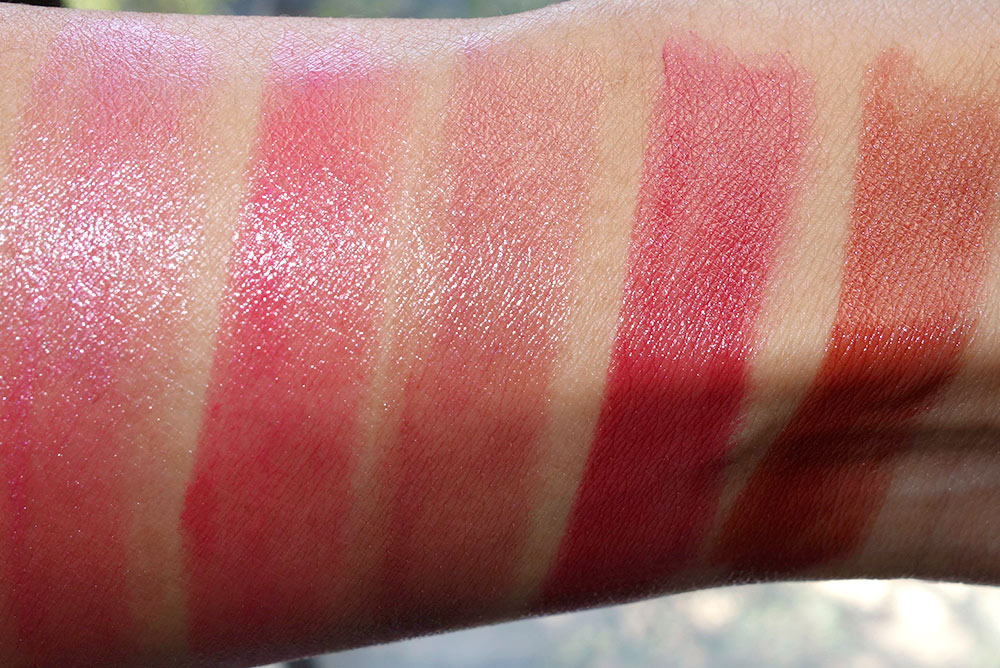 clarins joli rouge swatches