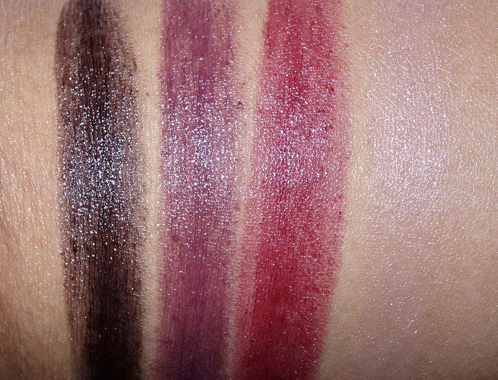 mac dark desires swatches lipsticks