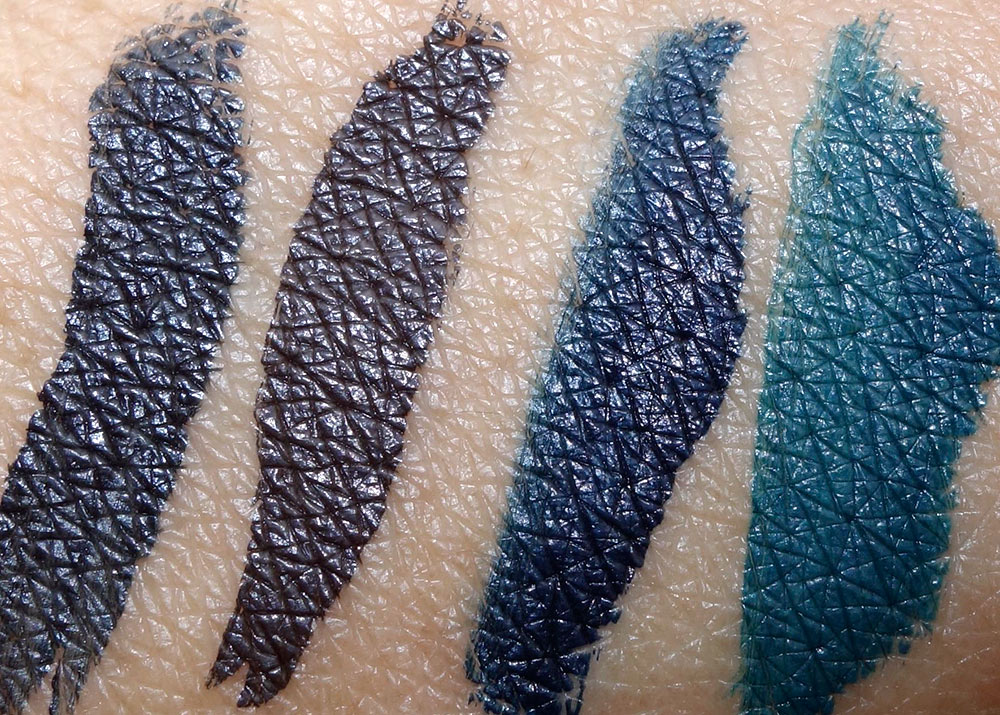 mac fluidline pen swatches