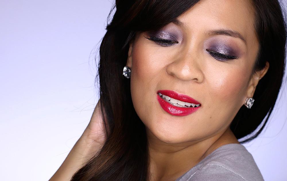 purple smoky holiday makeup tutorial