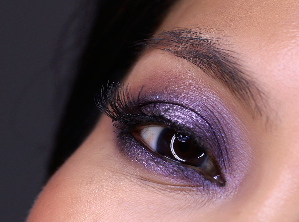 purple smoky holiday makeup tutorial