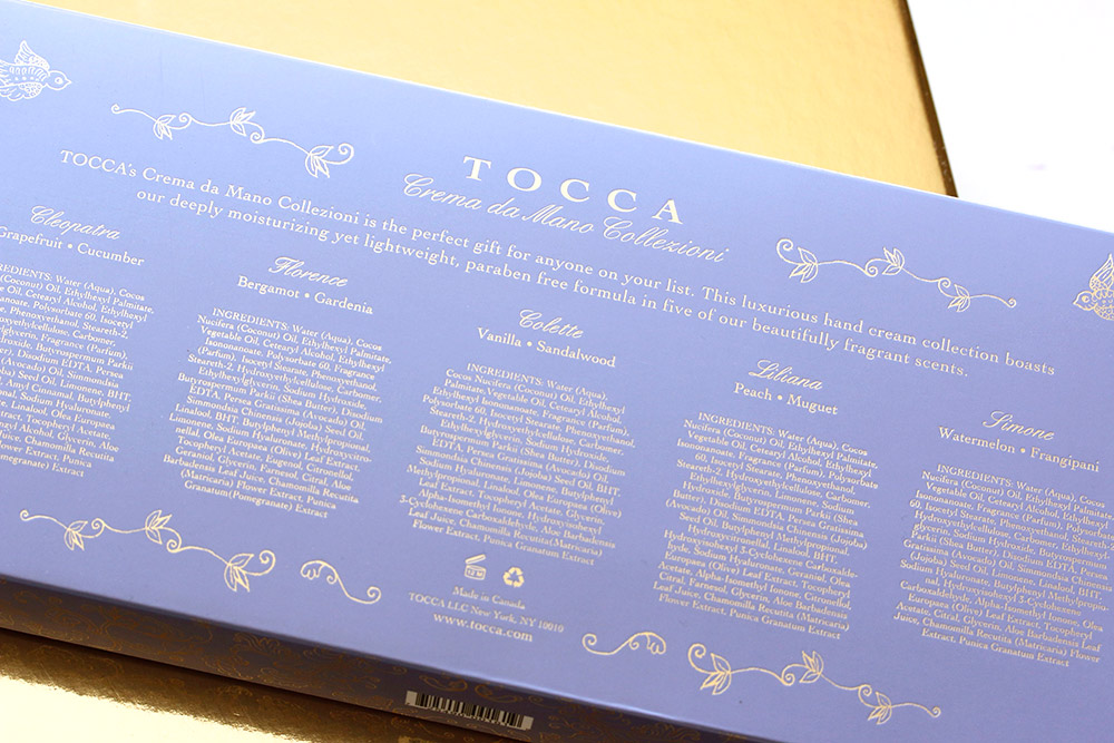 tocca hand cream set