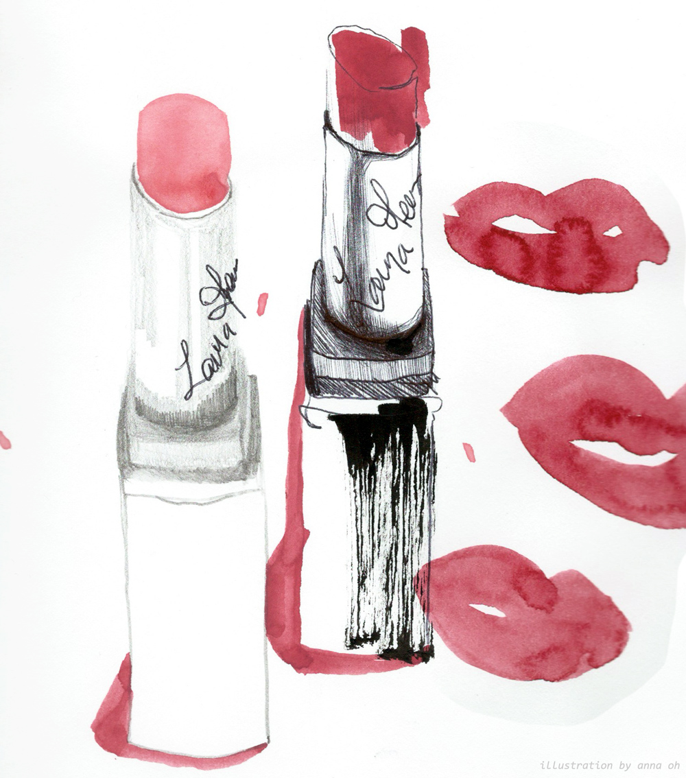 beauty illustration of the laura mercier lip parfait by anna oh spring 2016