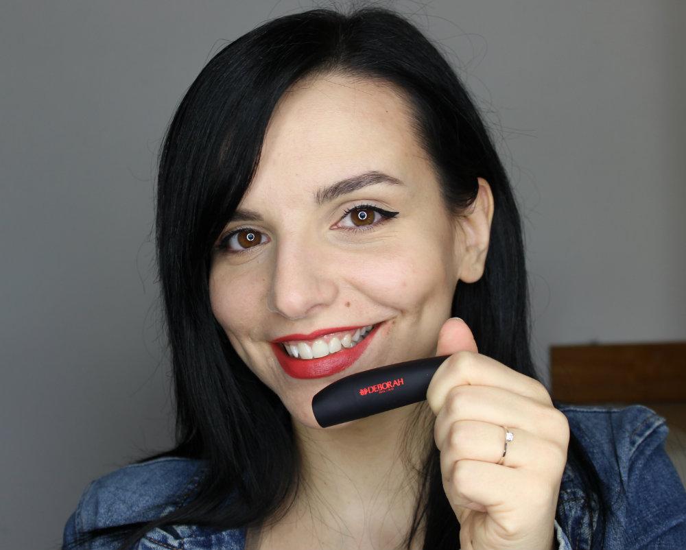 Deborah Milano Atomic Red Mat Lipstick 01