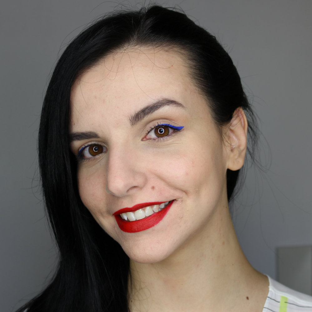 NABLA Diva Crime Lipstick Rouge Mon Amour Lip Swatch