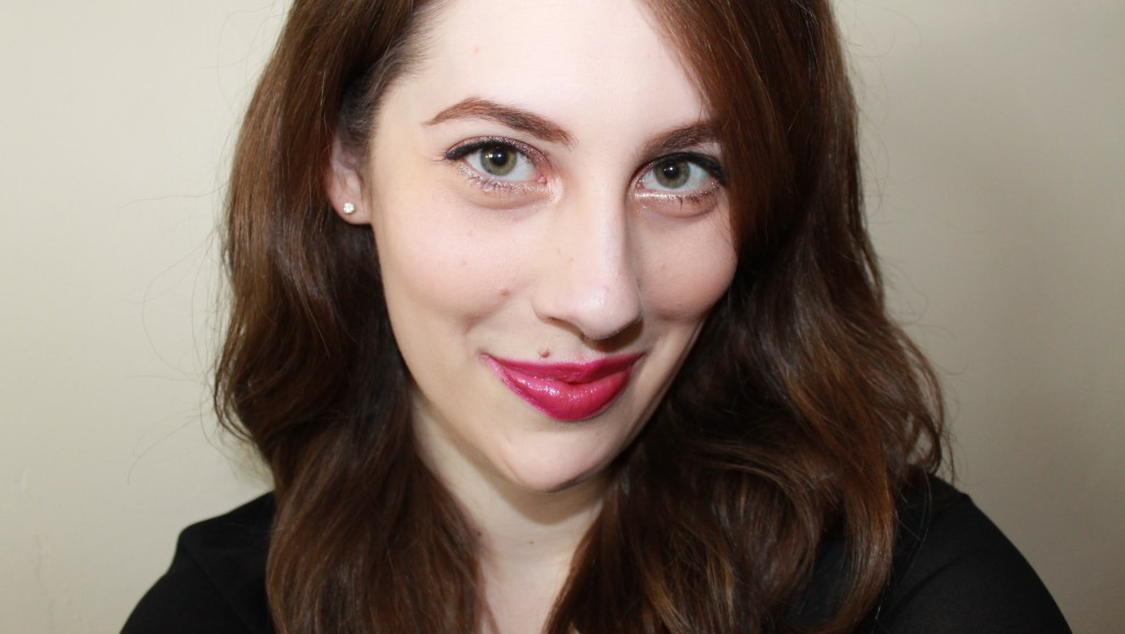 "A favorite ""purple-pink,"" YSL Rouge Volupté Shine 19 Fuchsia in Rage."