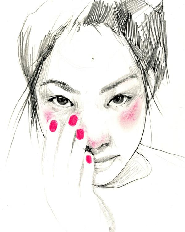 anna oh portrait illustration