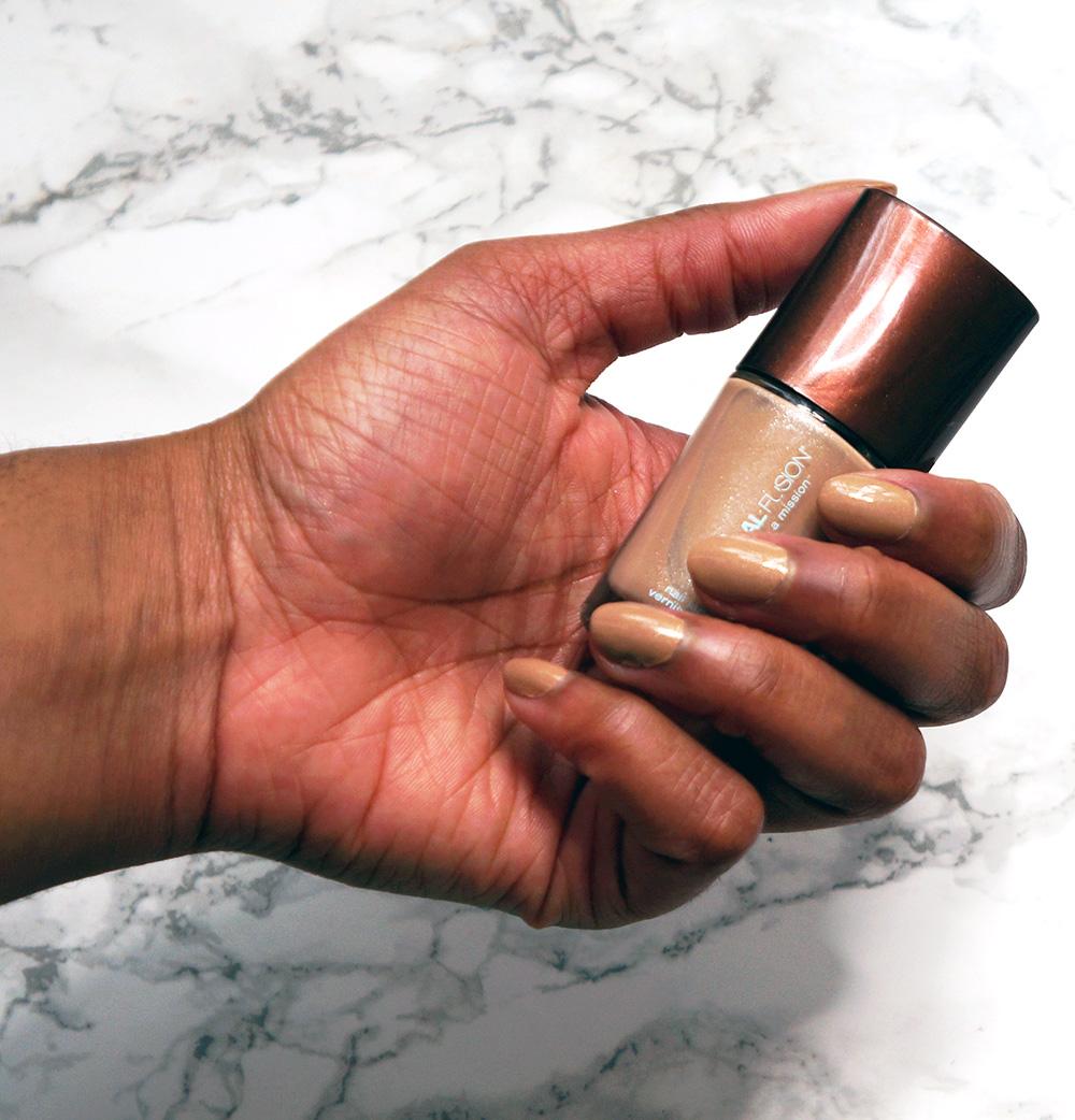 mineral fusion golden sand nail polish