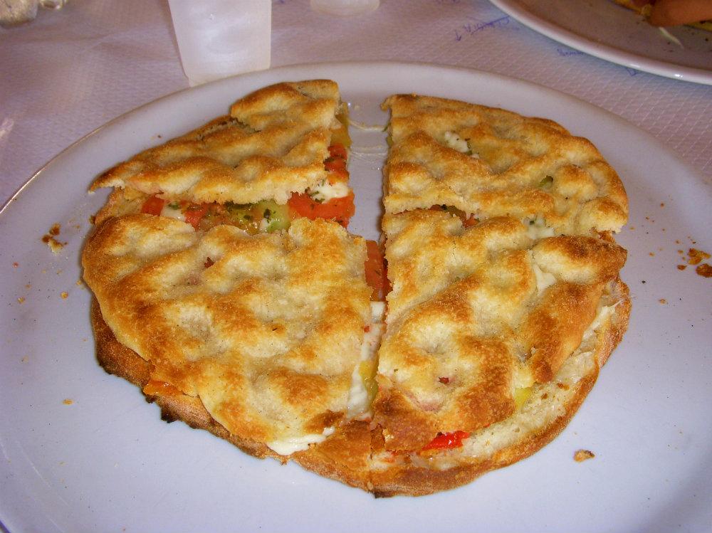 Stuffed Focaccia Salento Italy