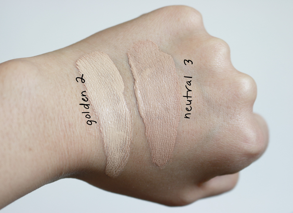 shiseido synchro skin foundation swatches