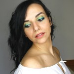 Urban Decay Electric Palette Turquoise Green Look