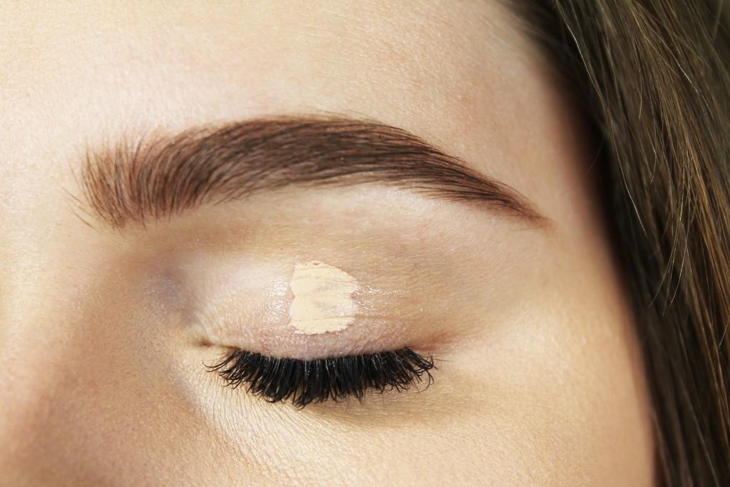 use your concealer as eye primer