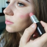 Use your lipstick as a blush