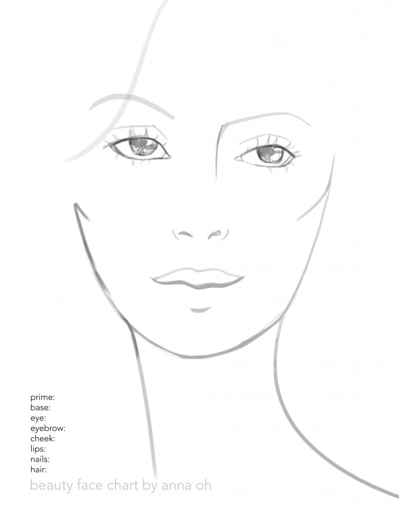 beauty makeup face chart free