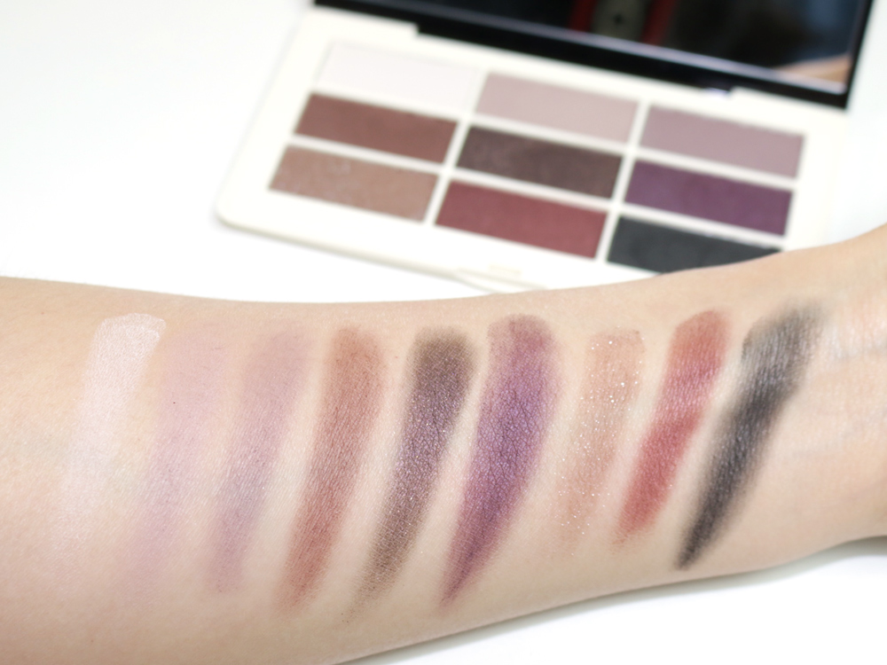 hm aubergine dream eyeshadow palette swatches