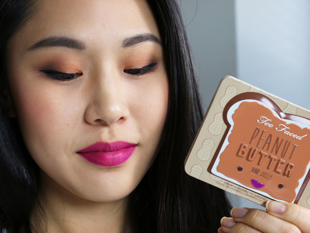 too faced peanut butter palette on eyes