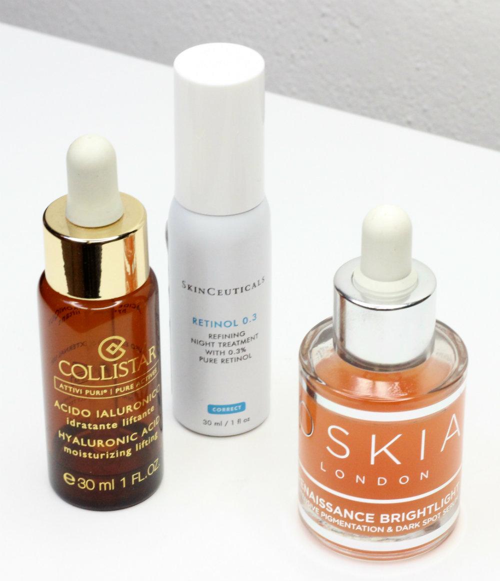 Ossia Renaissance Brightlight Skinceuticals Retinol 0.3 Collistar Hyaluronic Acid