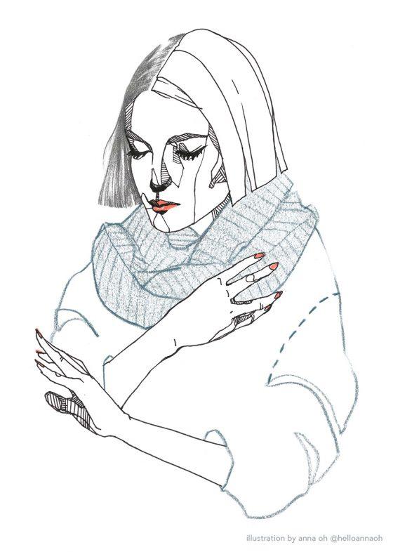 anna oh beauty illustration fashion