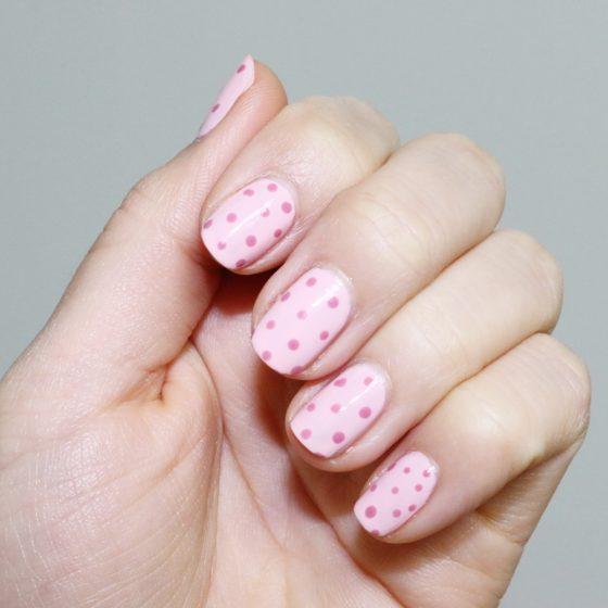 dior polka dots manicure