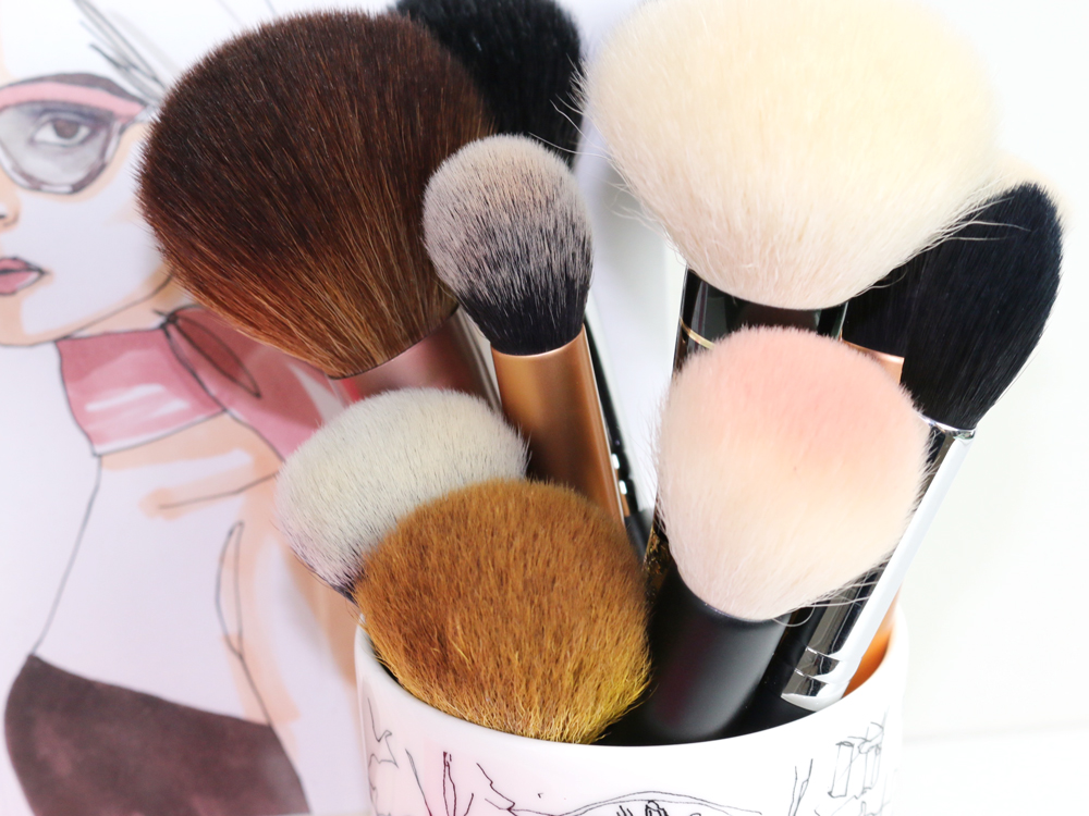powder and face brushes
