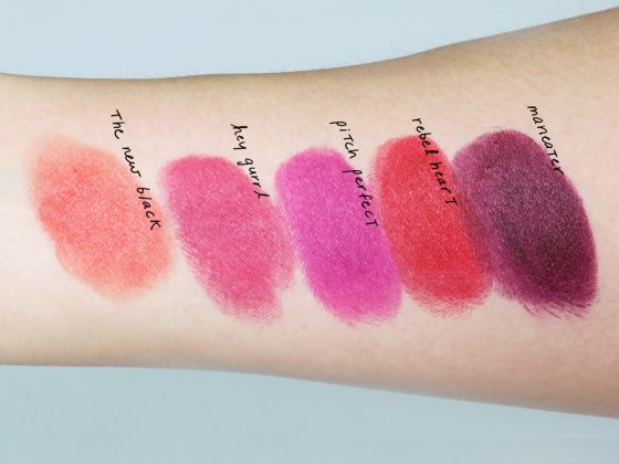 too faced la matte lipsticks swatches