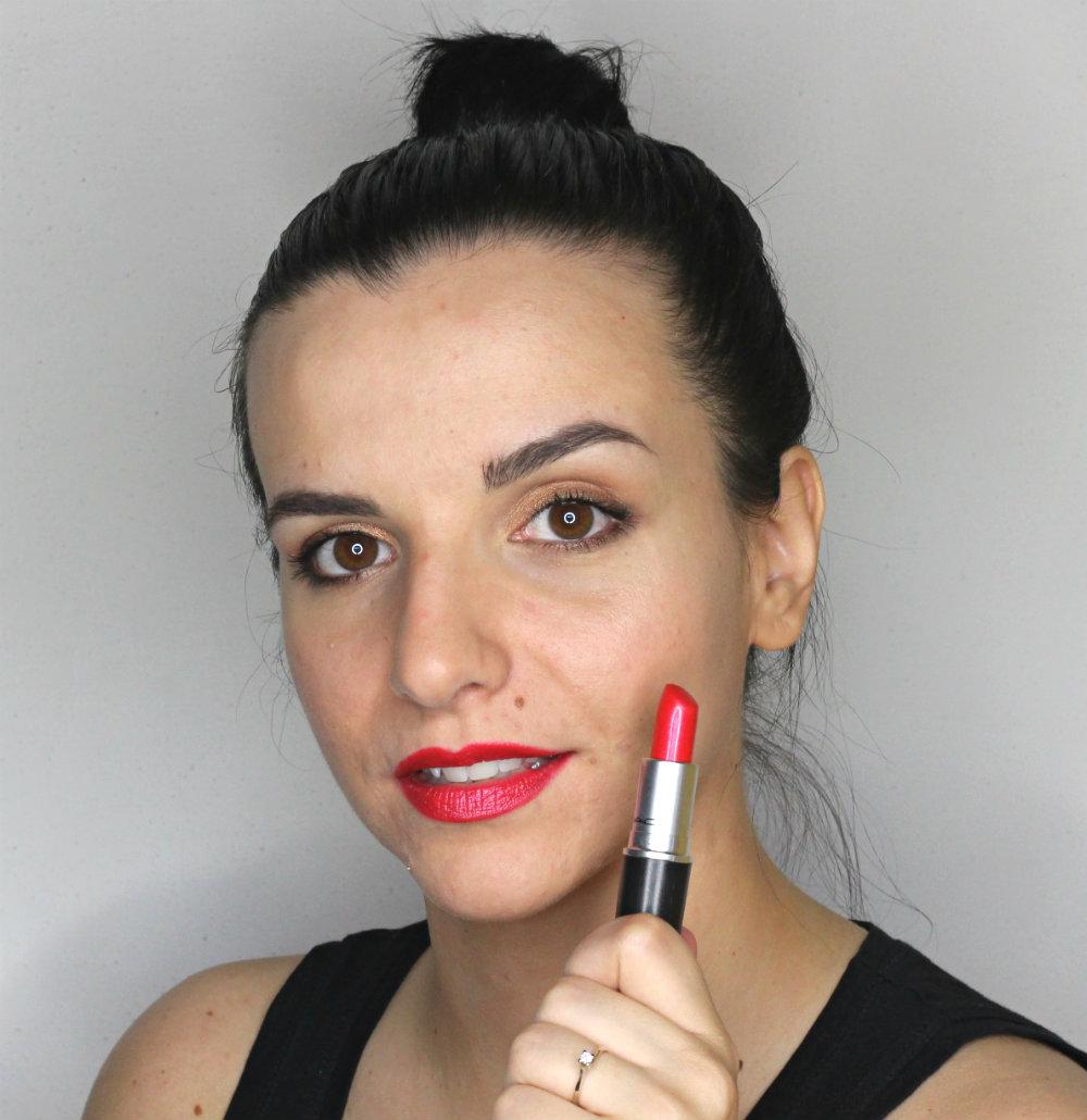 MAC Lipstick Fusion Pink Swatch