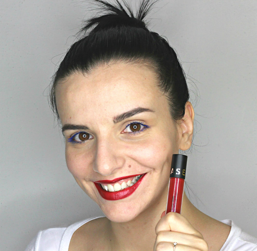 Sephora Luster Matte Cranberry Luster Swatch