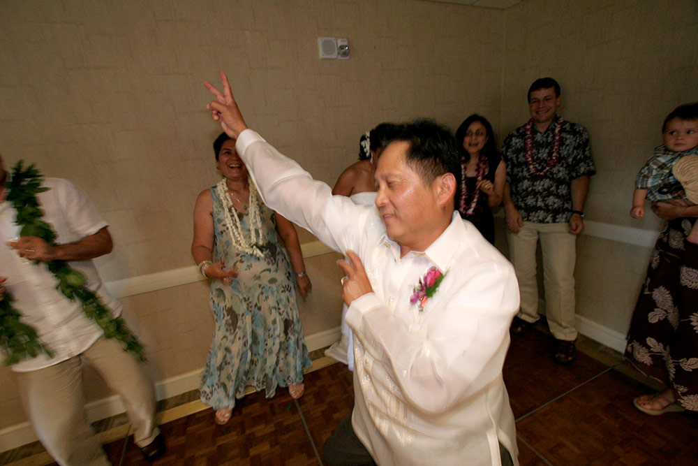 Dad goofing off during my wedding, LOL!