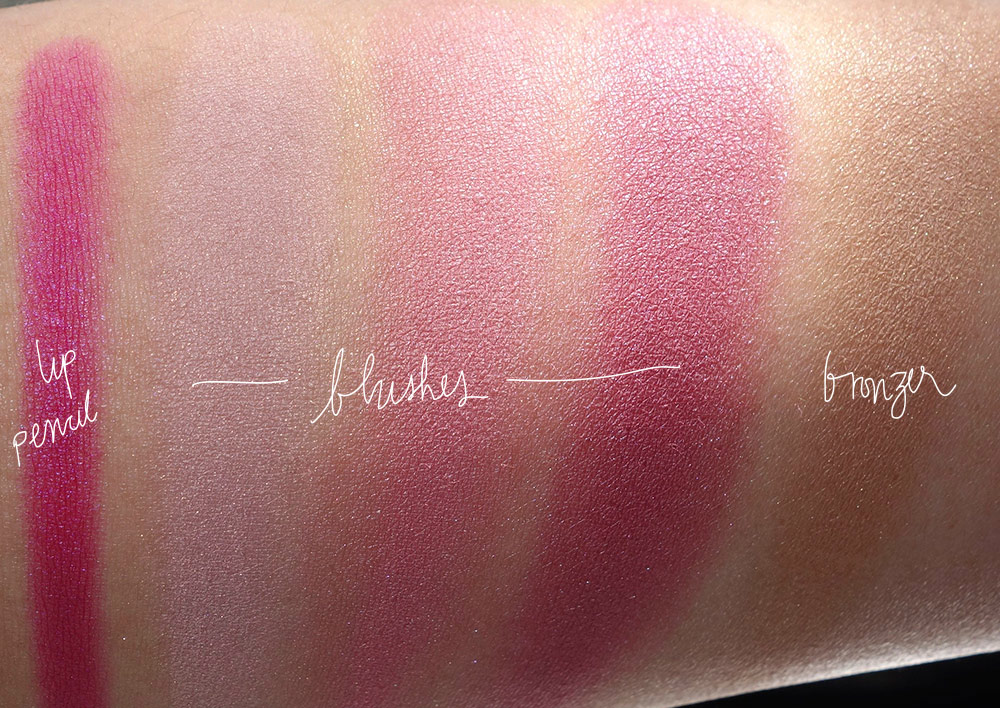 nars 413 blkr cheek lip palette swatches