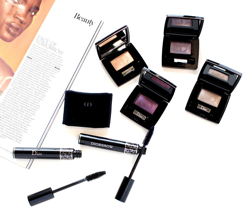 dior eyeshadows and mascaras