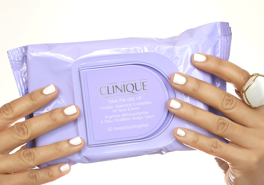 Clinique Take the Day Off Micellar Cleansing Towelettes for Face & Eyes ($14 for 50 wipes)