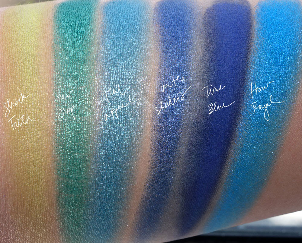 mac bangin brilliant eyeshadow swatches
