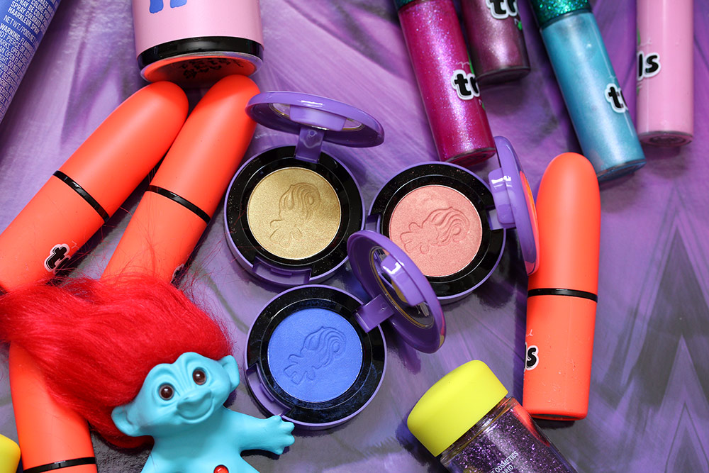 mac good luck trolls eyeshadows