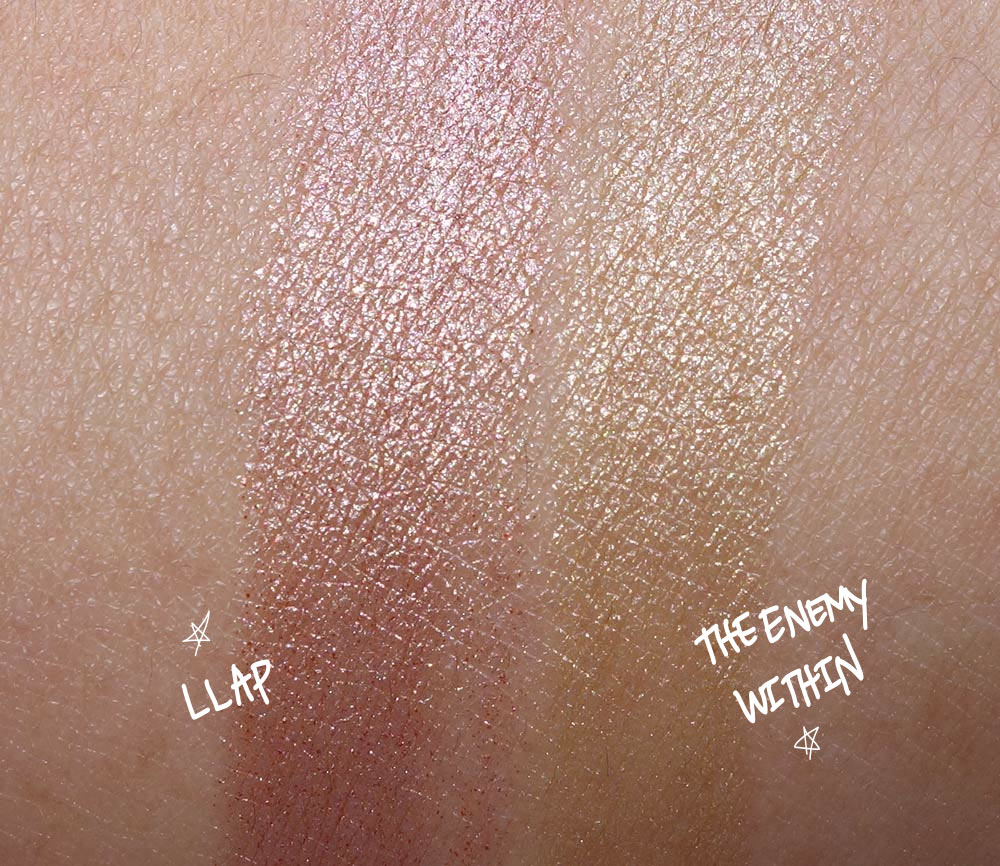 mac star trek llap enemy within swatches