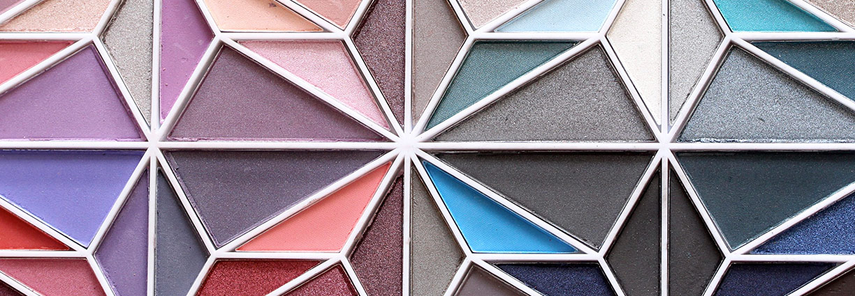 Geometric makeup palette