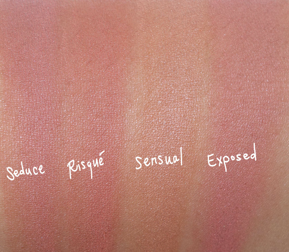 tarte naughty nude blush swatches