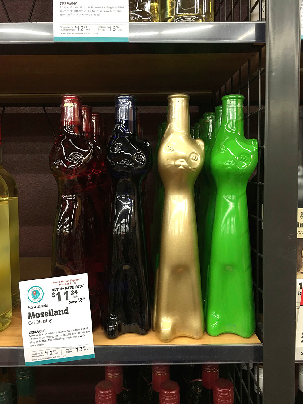 cost plus cat riesling