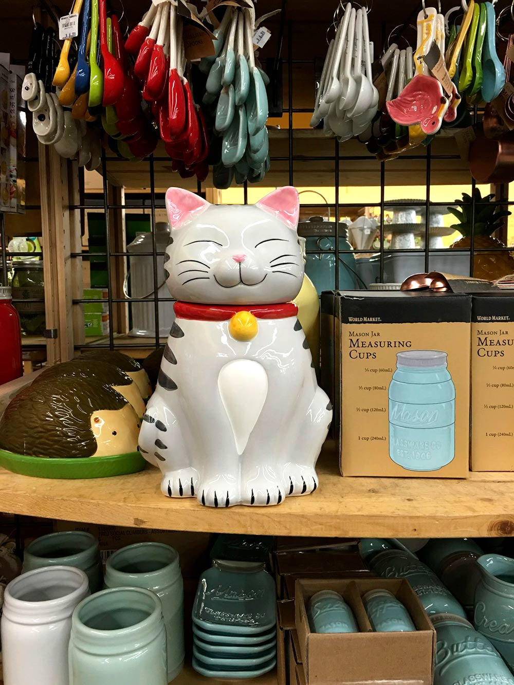 cost plus tabby cat jar