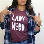 lady nerd tee