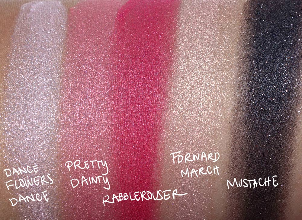 mac nutcracker sweet dust eye shadow swatches