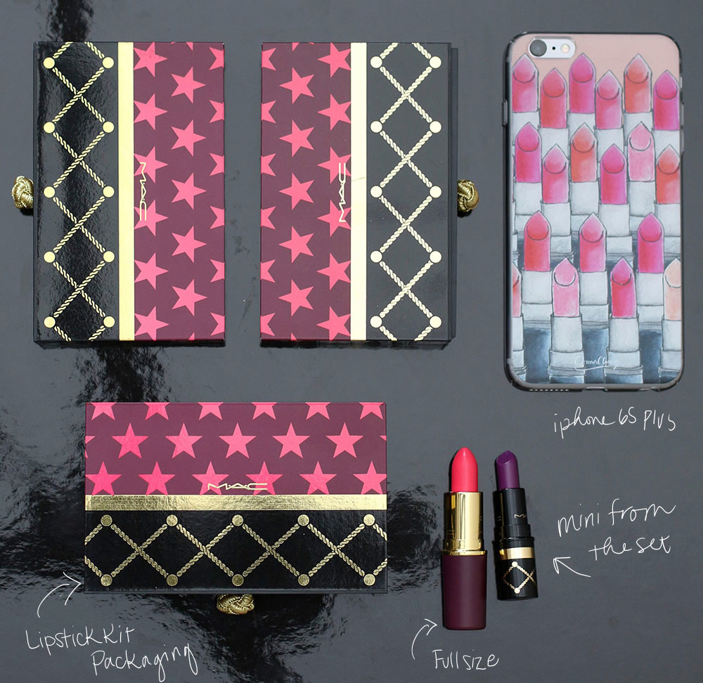 mac nutcracker sweet lipstick kits scale