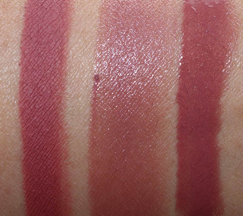 mac nutcracker sweet nude lip bag swatches