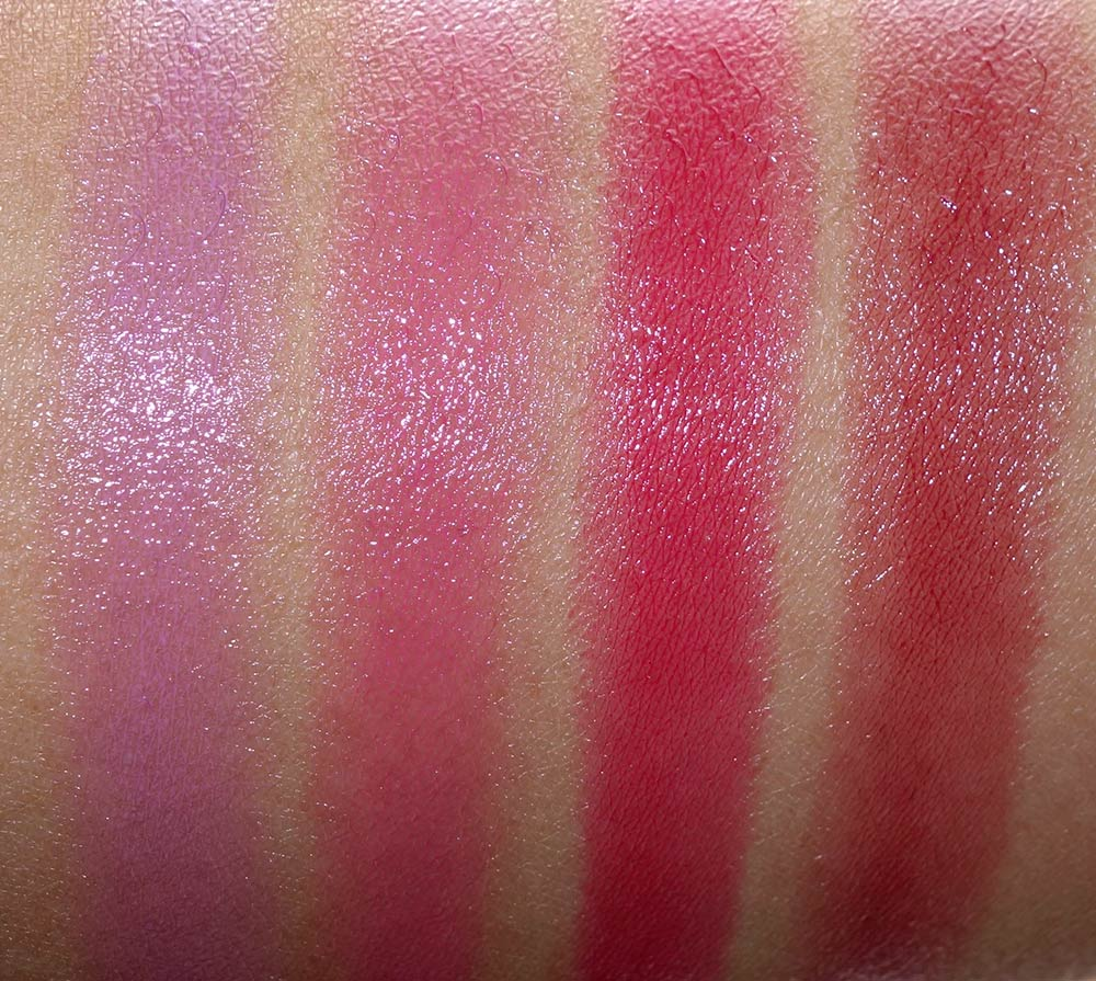 mac nutcracker sweet pink patentpolish swatches