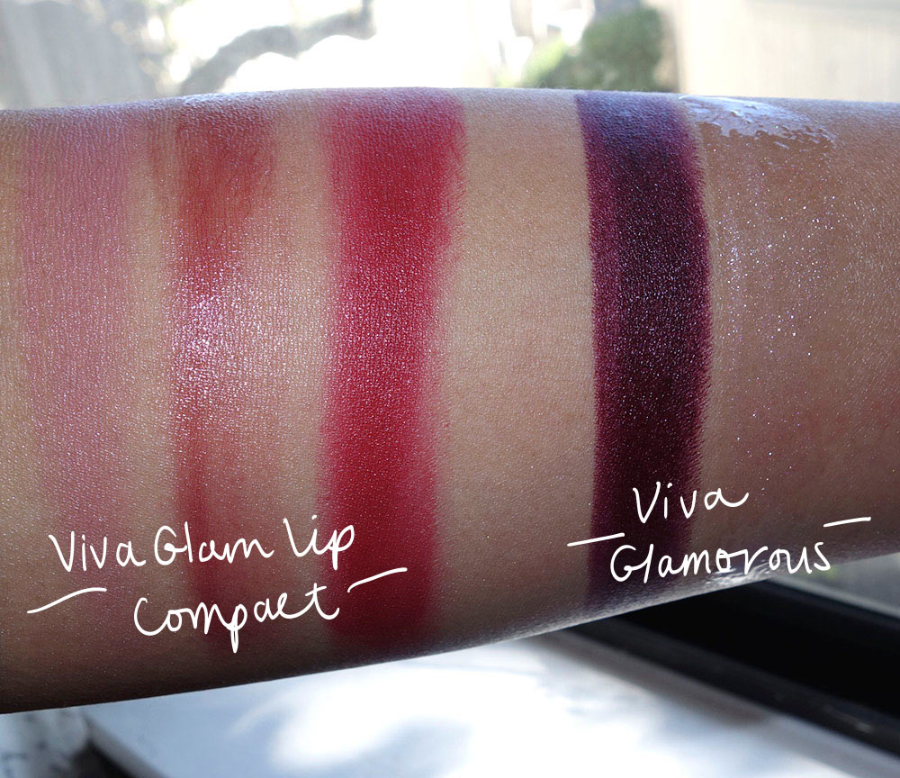 mac nutcracker sweet viva glam swatches