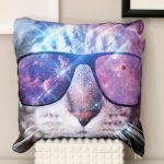 space tabby throw pillow 2