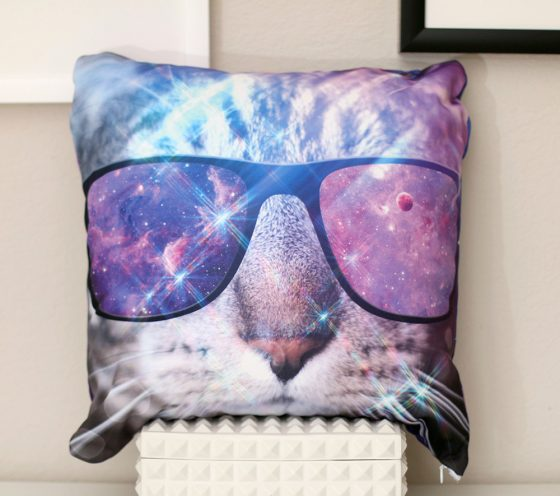 ConnorClaire.com Product Spotlight: Space Tabby Throw Pillow